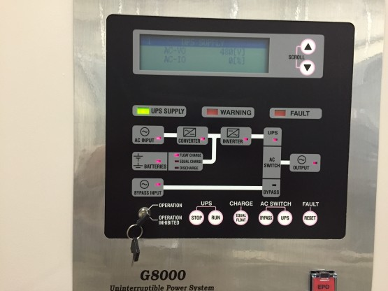 G8000MM  150 KW UPS front control panel
